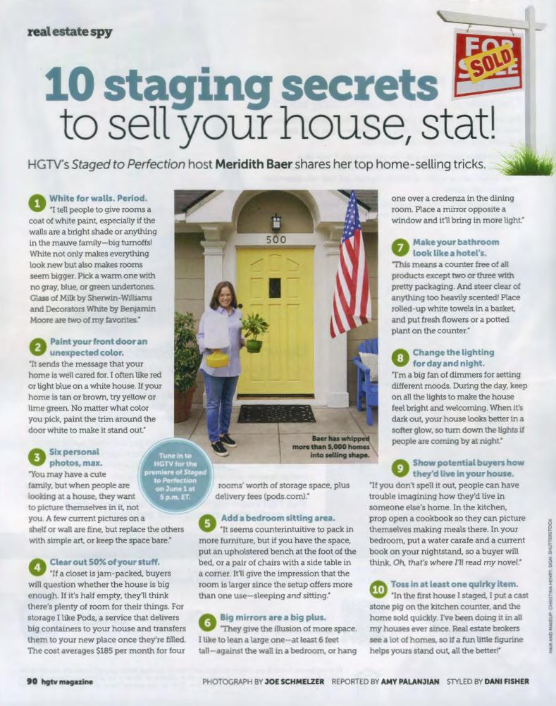 HGTV Magazine | Meridith Baer Home