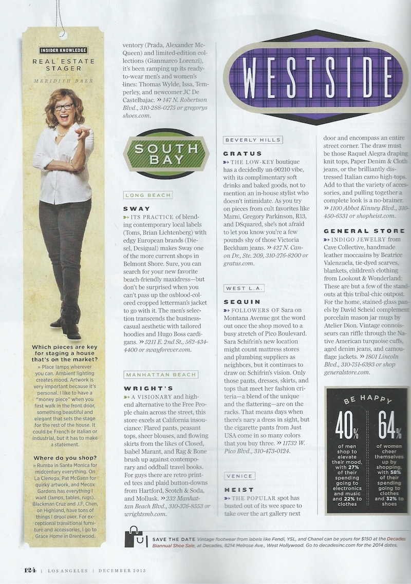 Los Angeles Magazine | Meridith Baer