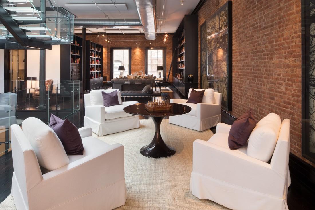 Tribeca penthouse loft meridith baer home for Tribeca homes furniture