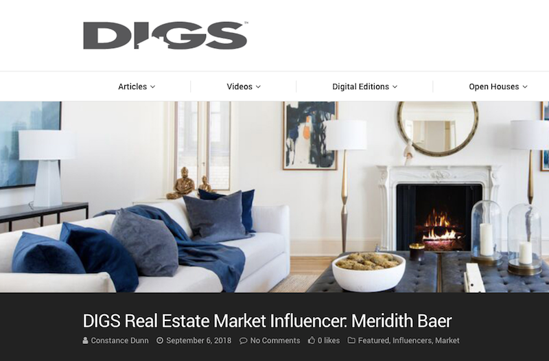 DIGS Real Estate Market Influencer: Meridith Baer